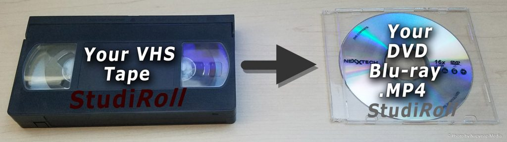 Your VHS, VHS-C, SVHS, Video8, Digital8, Hi8, and 8mm Tape to Your DVD, Blu-Ray, MP4